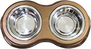 Boomer N Chaser Pet Double Diner Bowl Stainless Steel Snap