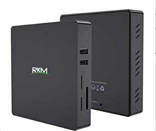 Rikomagic MK36T Plus - Mini PC con Windows 10 (64 bits, Intel Quad Core Z8350, RAM 4 GB DDR3, SSD 64 GB, Intel HD Graphics 400, Wi-Fi Dual Band AC, Bluetooth 4.0, USB 3.0)