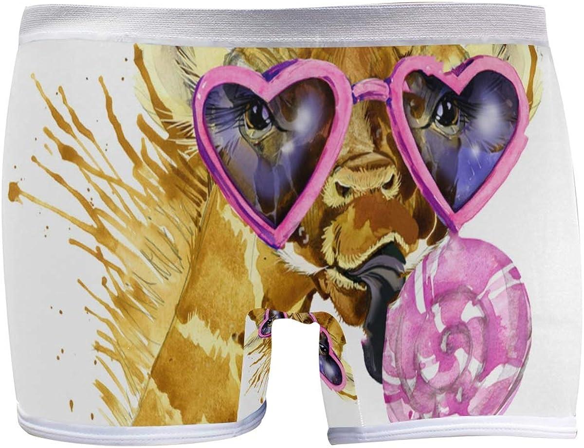SLHFPX Giraffe Illustration Has Boyleg Price reduction Watercolor Panties Splash free shipping