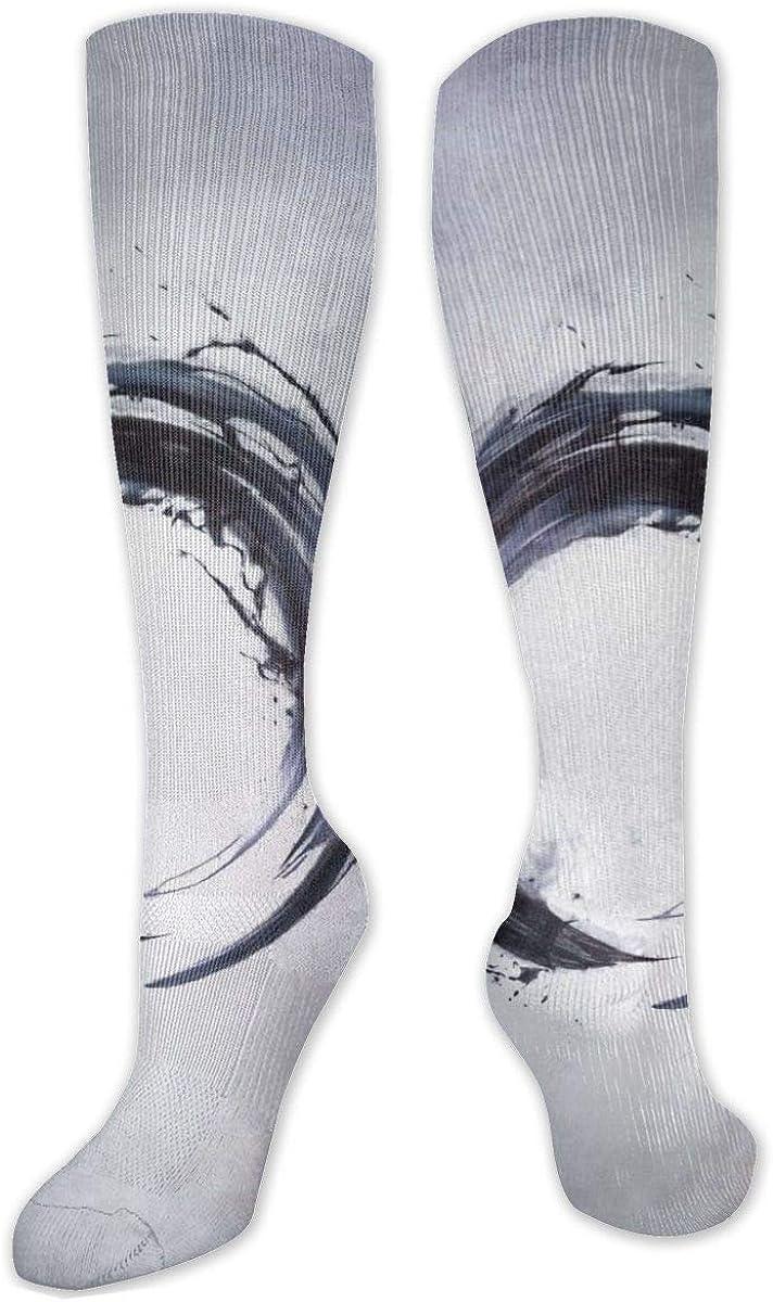 Enso Circle Knee High Socks Leg Warmer Dresses Long Boot Stockings For Womens Cosplay Daily Wear