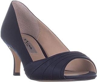 Nina Chezare Peep Toe Heels, New Navy Luster