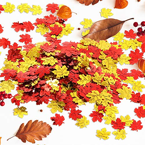 Foil Fall Leaves Table Scatter