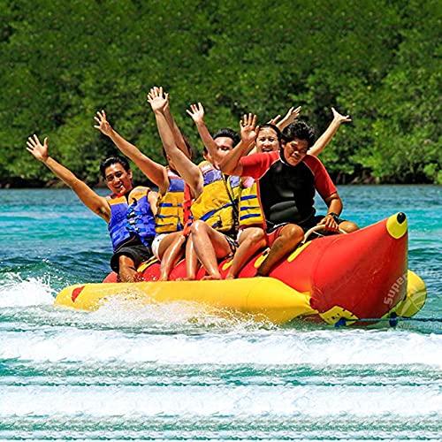 Barco Banana Inflable, Tubo De Arrastre Banana Boat, Apto para Adultos Y NiñOs De 3 A 6 Personas En Kayak,A