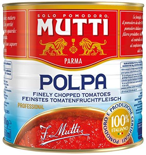 Mutti Polpa Fine Tomatenfruchtfleisch, Fein Gehackt, 1er Pack (1 x 2.5 kg)