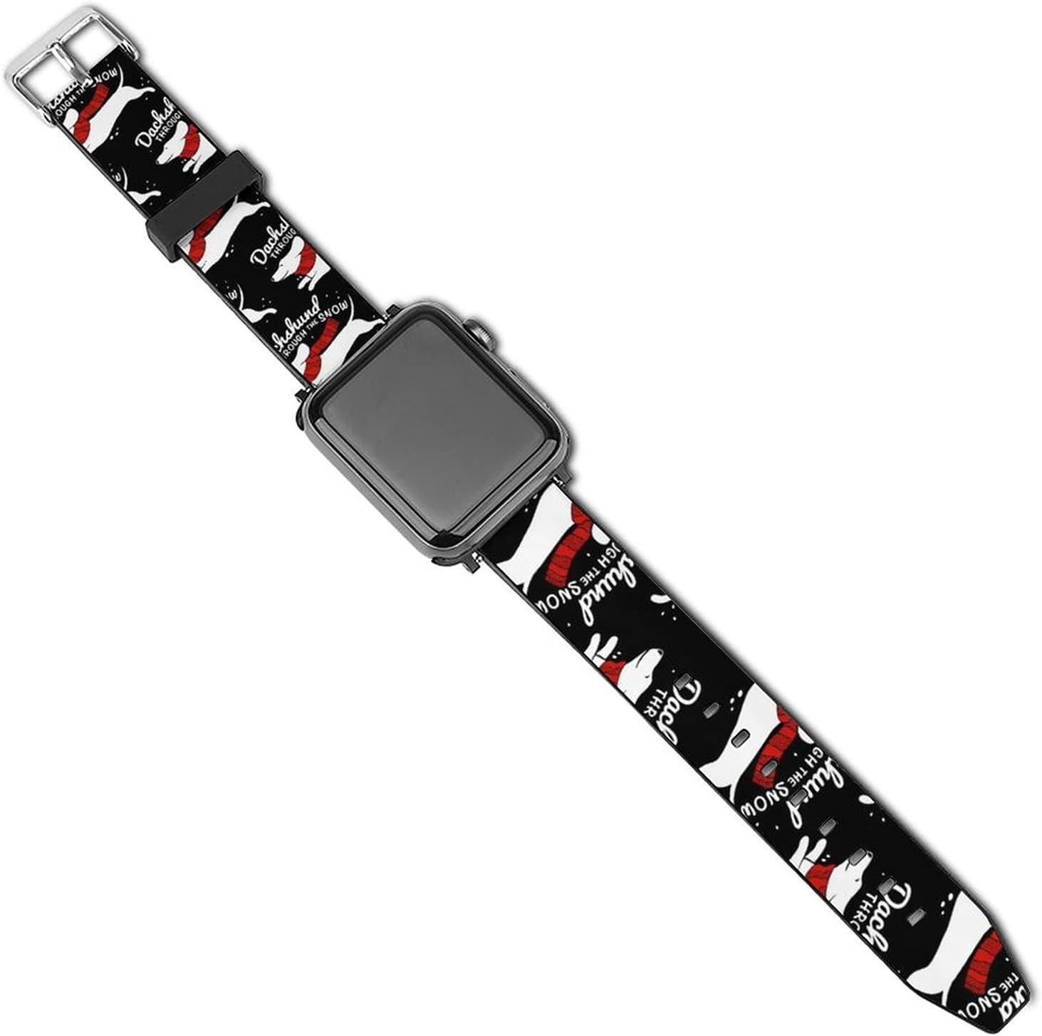 Red Scarf Daschund Through The Wristbands Virginia Beach Mall Snow Christmas Ranking TOP20 C Black