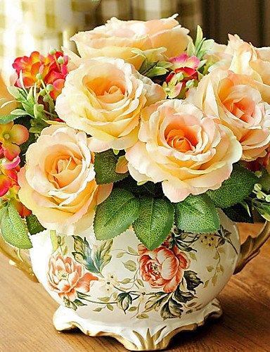"""Aufrechtzuerhalten,Künstliche Blumen, 11 \""""H-Retro-Art Rose Arrangement"""