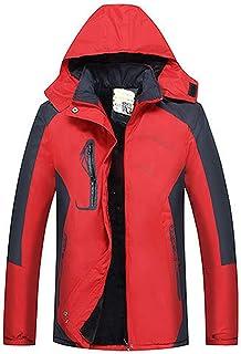 GAOXIAOMEI Ski Snowboard Jacket Men's Warm Fleece Thickening Polyester Stand Collar Coat Mountain Hiking Cycing Ice Climbi...