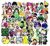 Japanese Anime My Hero Academic Suitcase Sticker Laptop Skateboard Sticker 50Pcs