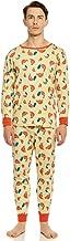 Leveret Men's Pajamas Fitted 2 Piece Pjs Set 100% Organic Cotton Sleep Pants Sleepwear (XSmall-XLarge)