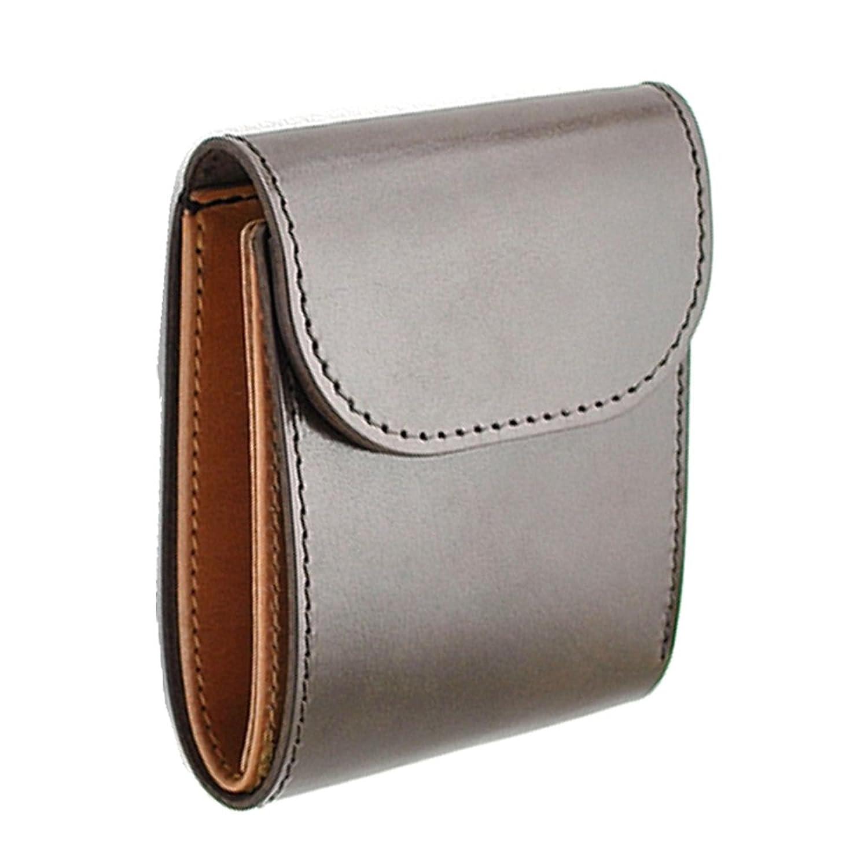 「RELIABLE リライアブル」 純国産 紳士用 高級二つ折り 短財布 (クリークレザーFS-03) (ブラウン)