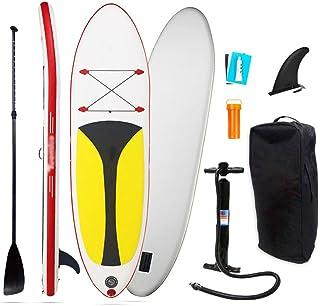 Fklee Tablero de paletas Sup Todo Redondo Kit for Principiantes con Bomba de Aire, Paleta Flotante de Aluminio Ajustable, Kit de reparación, Mochila de Transporte Tabla de Surf