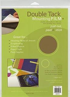 Grafix Double Tack Mounting Film 9inX12in 3/Pkg