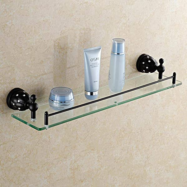 Tungchilan Luxury Black Bathroom Rack Antique Bathroom Corner Shelf Brass Bathroom Shelf Bathroom Accessories Multifunctional Storage Box