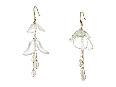 Kate Spade New York Painted Petal Statement Earrings (Cream Multi) Earring