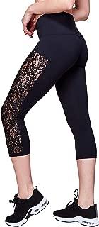 Women's High Waist Yoga Pants Capris Tummy Control Workout Running Leggings Non See Through(Black, Small)