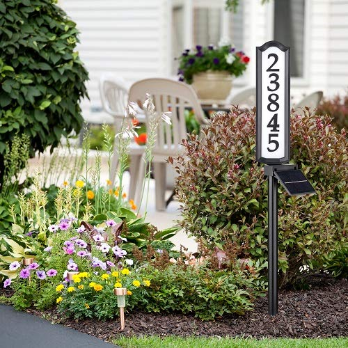 Whitehall LED House Address Numbers Sign, Solar Powered House Numbers Light for House and Yard 17' x 4.5' x 1.5'