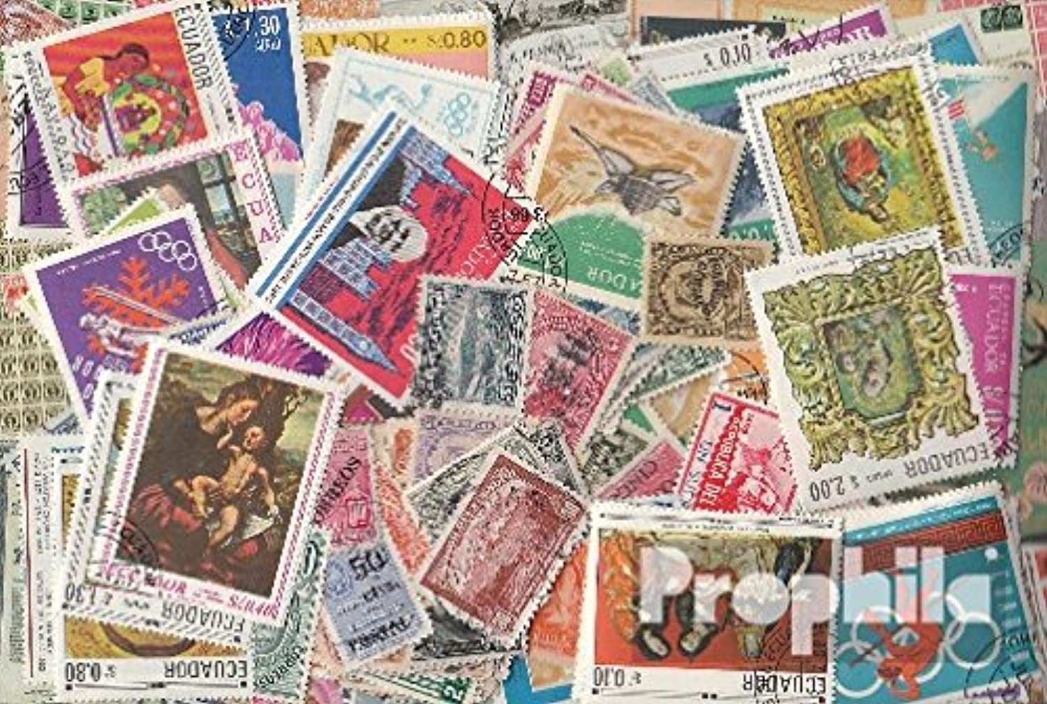 Ecuador 200 different stamps (Stamps for collectors)