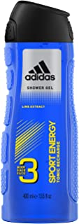 Adidas Male Personal Care 3-in-1 Body Wash Sport Energy 16 Fluid Ounce Body Wash, Face..
