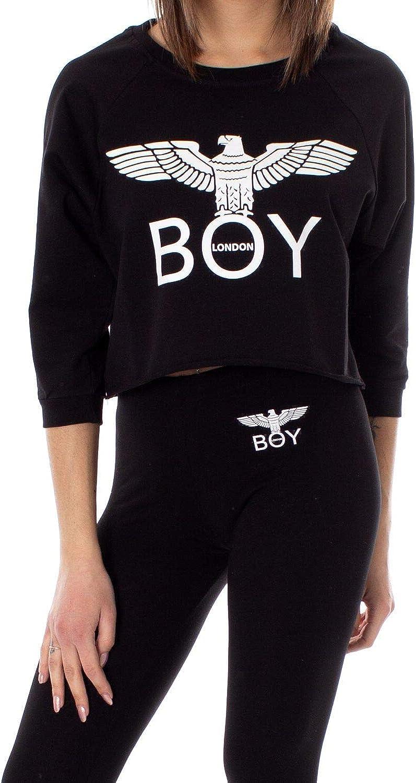 Boy London Women's BLD1785BLACK Black Cotton Sweatshirt