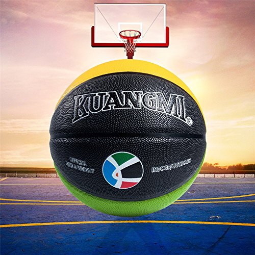 Lowest Prices! Genetic Los Angeles Official Size 7 6 5 4 PU Leather Basketball Suitable for Adult Ch...