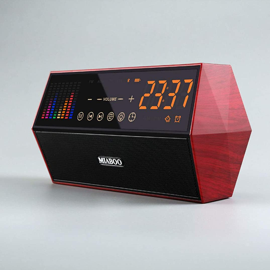 LYXLQ Bluetooth Speaker Retro Clock Radio Smart Audio for Audio Playback, Smartphones, Tablets and Other Devices