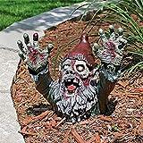 DKaony GNOME de Zombie, décoration de résine de Jardin extérieur Horrible et Amusante, Zombie Nain de Dessin animé, décoration de Statue de Nain, décoration d'halloween