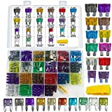 242 PCS Blade Car Fuses Assortment Kit - MuHize Car Truck Standard & Mini (2A/3A/5A/7.5A/10A/15A/20A/25A/30A/35A/40A), Boat Car RV SUV Truck Camper Automotive Replacement Fuses