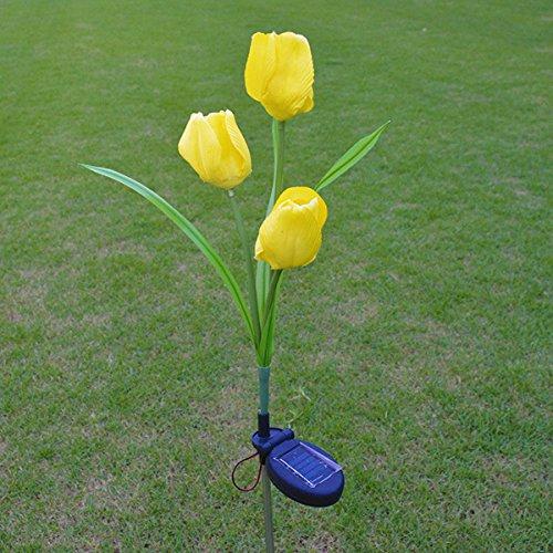 MASUNN 2V Énergie Solaire Mult Tulipe Fleur Jardin Lampe Paysage Extérieur Cour LED Lumière pour La Maison