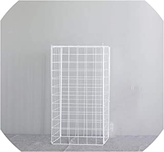 New Wrought Iron Grid Road Lead Wedding Background Shelf Props Wedding Arch Stage Decoration,30x100cm,White