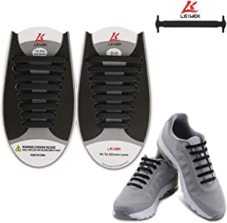 No Tie Shoelaces for Kids Adults, Elastic Silicone Shoe Laces for Sneakers
