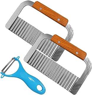 YuCool - Juego de 3 cuchillos cortadores para cortar la ensalada y cortar frutas francesas verduras