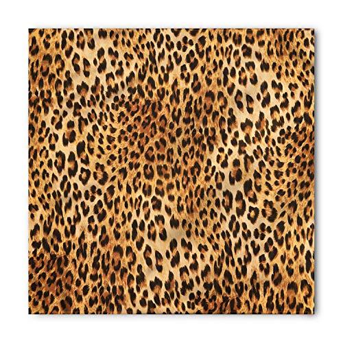 Lunarable Unisex Bandana, Animal Print Wild Nature Inspired, Brown