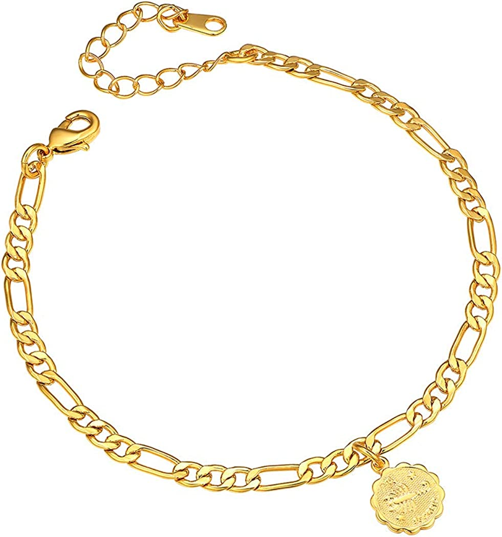 4.5mm Constellation Zodiac Our 55% OFF shop most popular Chain Anklet Adjustable 22cm-Length