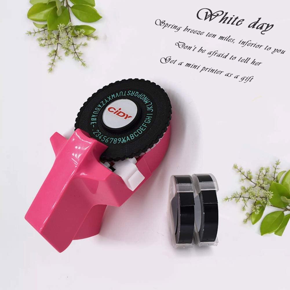 Mini DIY Decorative Manual Typewriter fit for 9mm 3D Label Tape ...