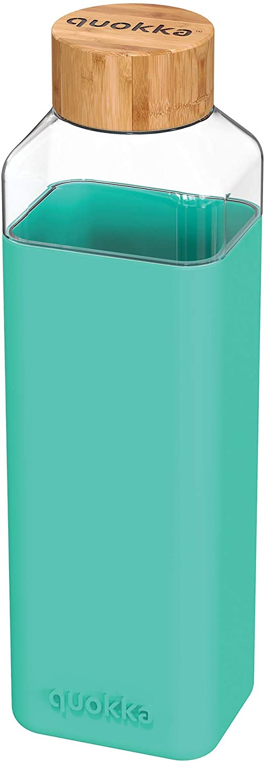 Quokka Max 42% OFF Square Glass Bottle with Silicone 700 Case Sale price ml Black Teal