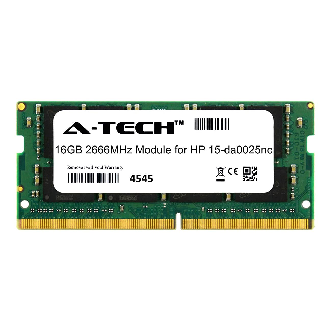 A-Tech 16GB Module for HP 15-da0025nc Laptop & Notebook Compatible DDR4 2666Mhz Memory Ram (ATMS381605A25832X1)