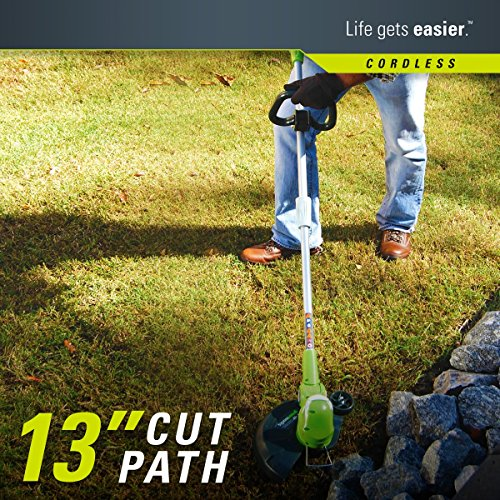 Greenworks 40V 13-Inch Cordless String Trimmer/Edger, 2.0 AH Battery Included 21302