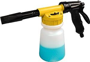 YunGuoGuo Foam Cannon for Garden Hose,Adjustment Ratio Dial Foam Gun,Car Wash Soap Spray Foamer Yellow