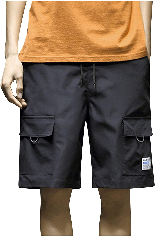 MODOQO Summer Men's Shorts Casual Sports Cargo Pants Straight Leg Loose Shorts Beach Pants