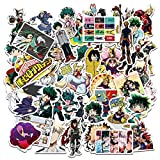 Pepe Tee My Hero Academia Anime Waterproof Stickers for Laptop, Notebooks, Car, Bicycle, Skateboards, Luggage Decoration (50 Pcs)