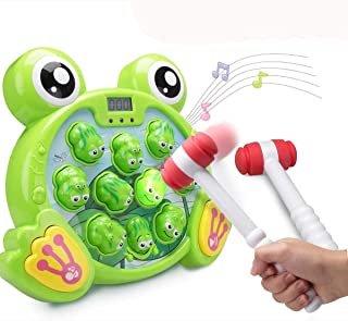 Interactive Whack A Frog Game, Durable Pounding Toy, Early Developmental Toy, Helps Fine Motor Skills, Great Gift for Age ...