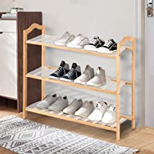 Levede Bamboo Shoe Rack Storage Wooden Organizer Shelf Shelves Stand 3 Tier 80cm 3 Tier - 80cm