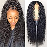 ALLRUN Kinky Curly Lace Front Wigs Remy Human Hair Wig for Black Women 13x4 Lace Frontal Kinky Curly Wigs 150% Density(26 Inch)