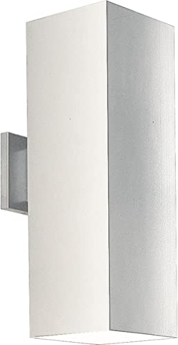 2021 Progress Lighting P5644-30 Contemporary Modern Two Light Wall Lantern discount from Square Collection in White Finish, high quality 6-Inch Width x 18-Inch Height outlet online sale