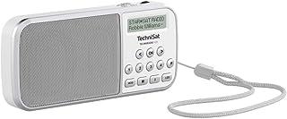 TechniSat TECHNIRADIO RDR – portables DAB+/UKW Radio (LCD Display, Favoritenspeicher, Direktwahltasten, Kopfhöreranschluss, USB, AUX in, LED Taschenlampe, wechselbarer Akku, 1 Watt) weiß