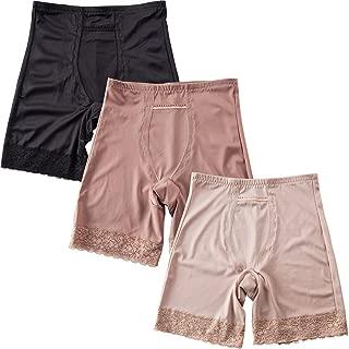 AusFeLin Women's Butt Lifter Shapewear Lace Control Shorts Hi-Waist Boyshort 3-Pack