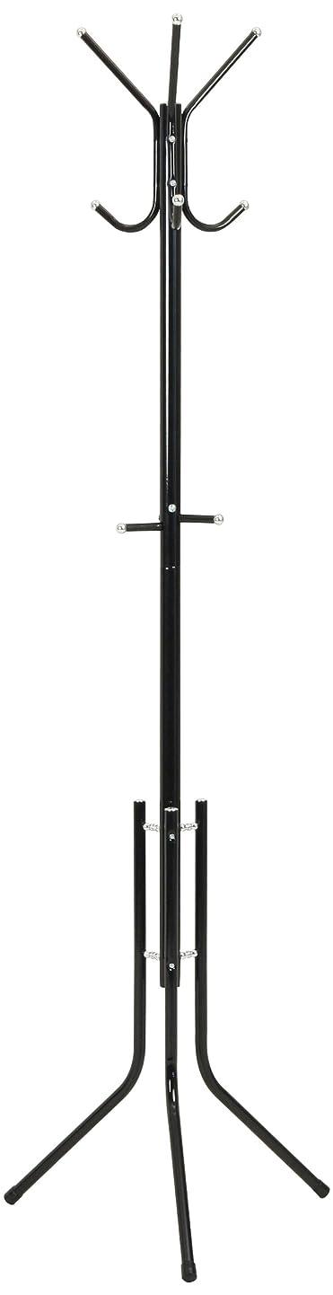 セブンクランシー過去不二貿易 パイプポールハンガー 高さ176cm スチール ブラック 92418