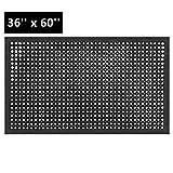 ROVSUN Rubber Floor Mat, 36''x60'' Anti-Fatigue/Non-Slip Drainage Mat, for Industrial Kitchen Restaurant Bar Bathroom, Indoor/Outdoor Cushion