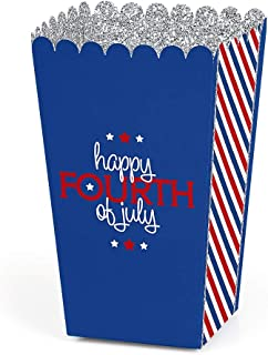 Big Dot of Happiness 4th of July - Independence Day Party Favor Popcorn Treat Boxes - Set of 12