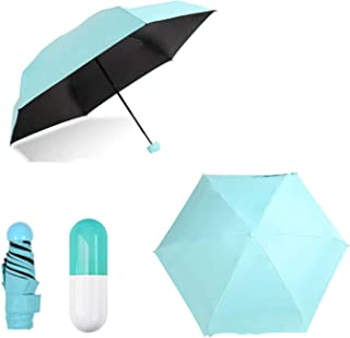 Mini Regenschirm,Taschenschirm,Regenschirm,UV undurchlässig Schirm,Tasche Reise Etui klein,leicht kompakt